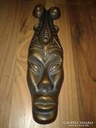 Női bronz totem fej nagyon ritka darab