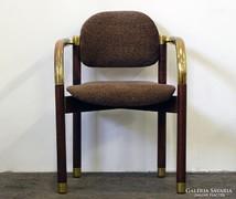 0L380 Retro réz díszes artdeco karfás szék