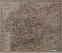 0L352 Antik acélmetszet térkép NÉMET BIRODALOM