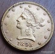 USA ARANY  10 DOLLAR 1893  RITKA