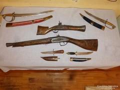 6 db díszfegyver ( Indiai )
