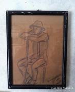 MEDNYÁNSZKY LÁSZLÓ PECSÉTES GRAFIKA, 19,5 X 26 cm