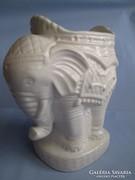 Századfordulós nagy méretű váza és kaspó elefánt