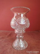 Kétrészes kristály váza