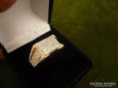 Férfi 18K arany brilles gyűrű