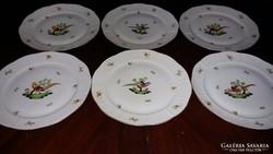 Herendi antik lapos tányér 6 db.