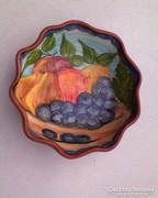 Gyümölcs mintás kerámia kínáló tál