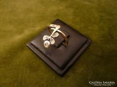 Szecessziós gyémántos antik gyűrű