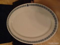 Antik,cseh porcelán tál 36,5cm