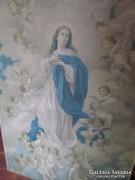 100x70 cm-es szentkép , olajnyomat vásznon, kisebb hibákkal