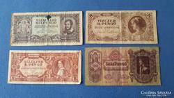 Régi bankjegyek - penegő és forint