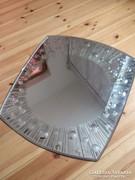 Különleges art deco csiszolt tükör 52x45 cm