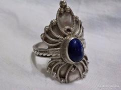 Antik ezüst gyűrű lápisz kővel