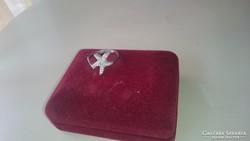 Ezüst gyűrű cirkonos tengeri csillaggal 925