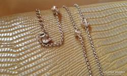 Armani ezüst nyaklánc gömb,-és kristály