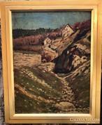 Vadon Benjamin - A Mátyás hegy oldalánál (1927)