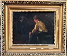 Skuteczky Döme - A pihenő munkás (1915)