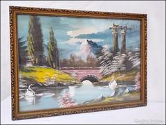 Tóparti idill - hangulatos akvarell