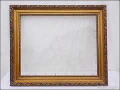 Antik  fa képkeret  ,  falc 50 x 40  cm.