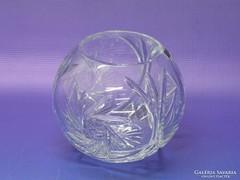 0L049 Jelzett parádi üveg váza gömbváza
