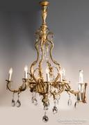 XIX. századi aranyozott bronz csillár