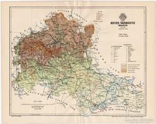 Heves vármegye térkép 1894, eredeti, antik