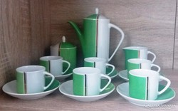 Retro Hollóházi porcelán kávéskészlet