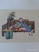 Chinesische Miniaturen Aus dem Leben einer chinesische Dame