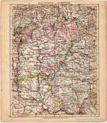Magyarország térkép II. 1929, Alföld, magyar nyelvű, régi