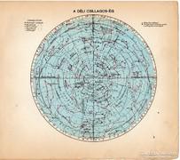 A déli csillagos ég, térkép 1929, magyar nyelvű, kis méret
