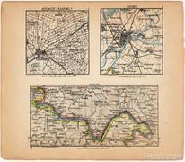 Mini térképek 1929, Hódmezővásárhely, Szeged, Alduna térkép