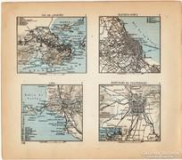 Mini térképek 1929, Rio de Janeiro, Buenos Aires térkép