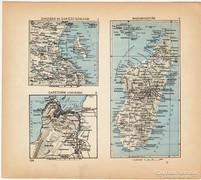 Mini térképek 1929, Zanzibar, Capetown, Madagaszkár térkép