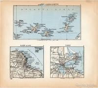 Mini térképek 1929, Kanári - szigetek, Alger, Tunisz térkép