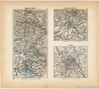 Mini térképek 1929, Isonzo - völgy, Gorizia, Róma térkép