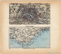 Mini térképek 1929, Párizs, Francia Riviéra térkép