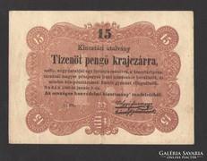 Tizenöt pengő krajczárra 1849. NAGYON SZÉP!!!