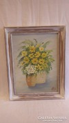 H.Gy. virágcsendélet festmény