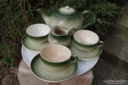 Zsolnay antik teás készlet része 1890 körül