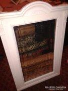 Nagy ónémet tükör, nagyon régi biedermeier fali tükör