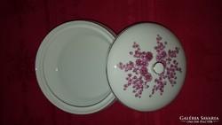 Hollóházi porcelán fedeles bonbonier