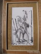 Bihari Sándor: Műteremben