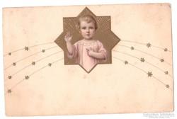 Litho szentkép képeslap 1927