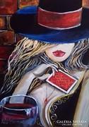 --- Pető Csenge:Kártyajátékos  .----