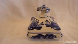 Festett Orosz porcelán ékszertartó