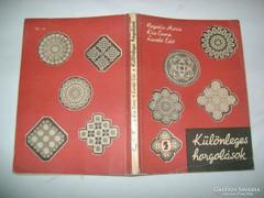 Különleges horgolások - kézimunka könyv - 1967