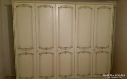 Trüggelmann törtfehér gardrobszekrény 5 ajtós 270x215x60cm