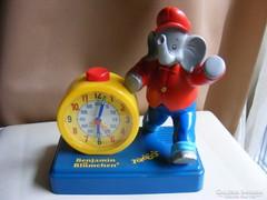 Elefántos gyermek asztali óra - Benjamin Blümchen