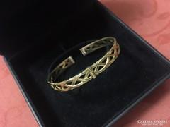 Antik jelzett aranyozott karkötő, ROLLED GOLD jelzéssel