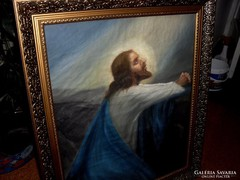 KÜMMERLE PÁL szignózott antik VALLÁSI festmény!